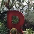 植物と共存する未来感じる文字サイン/箕面